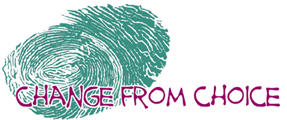 thumbprint logo of Change from choice (registered trademark)
